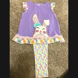 J.Khaki Girls 2 piece top and leggings NWT